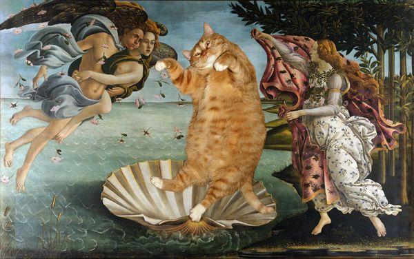 Tableau avec des chats